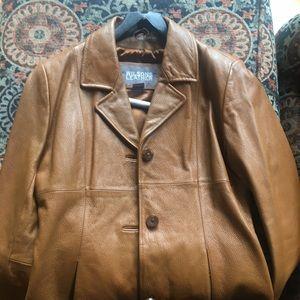 Leather jacket Tan- Chestnut color
